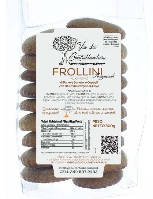 Frollini al Cacao di Farro e Grano Duro con Olio extravergine